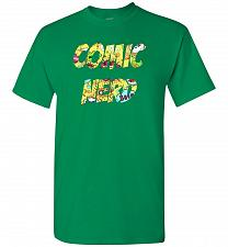 Buy Comic Nerd Unisex T-Shirt Pop Culture Graphic Tee (S/Turf Green) Humor Funny Nerdy Ge