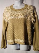 Buy Chunky Sweater Womens SIZE XL DEBBIE MORGAN Tan Long Sleeve Scoop Neck Sequins