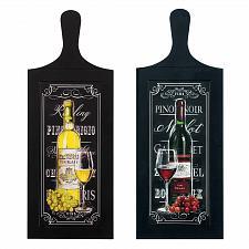 Buy *18170U - Wine Bottle Wall Art Wood Plaque Duo