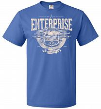 Buy Enterprise Unisex T-Shirt Pop Culture Graphic Tee (XL/Royal) Humor Funny Nerdy Geeky