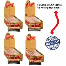 Buy 79mm RAW Hemp Plastic Rolling Machines - 4 DISPLAY BOXES/48 ROLLERS - Wholesale!