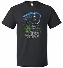 Buy Alien Wars Unisex T-Shirt Pop Culture Graphic Tee (S/Black) Humor Funny Nerdy Geeky S