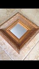 "Buy square or diamond shaped gold tone accent decorative mirror 13.5"""