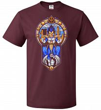 Buy Prince Of All Sayians Unisex T-Shirt Pop Culture Graphic Tee (4XL/Maroon) Humor Funny
