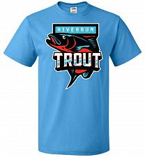 Buy Game of Thrones Inspired Riverrun Trout Sports Parody Adult Unisex T-Shirt Pop Cultur