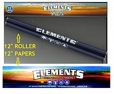 "Buy New! ELEMENTS GIANT ROLLER 12"" Rolling Machine and a Pack of FOOT LONG PAPERS"