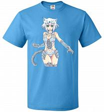 Buy Pappermint Maskot Unisex T-Shirt Pop Culture Graphic Tee (3XL/Pacific Blue) Humor Fun