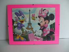 Buy Minney Mouse And Daisy Duck Paris Vacation Framed Puzzle Wall Art