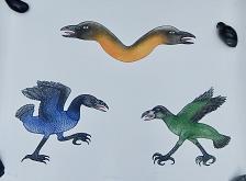 Buy Inuit Art DAVIDEE ITULU Etching Aquatint, BIRDS FIGHTING, 34/50,1982, Dorset