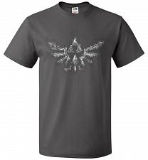 Buy Triforce Smoke Unisex T-Shirt Pop Culture Graphic Tee (4XL/Charcoal Grey) Humor Funny