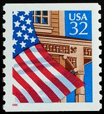 Buy 1995 32c Flag over Porch, Coil Scott 2913 Mint F/VF NH