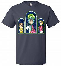 Buy Rick And Morty Stain Glass Unisex T-Shirt Pop Culture Graphic Tee (4XL/J Navy) Humor