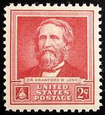 Buy 1940 2c Dr. Crawford W. Long, Surgeon & Pharmacist Scott 875 Mint F/VF NH