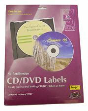 Buy Printer Creations CD DVD White Labels For InkJet Printers 30 Count Self Adhesive