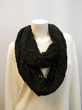 Buy INFINITY SCARF Women Size 70X13 FADED GLORY Solid Black Multi Style All Occasion
