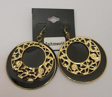 Buy Women Earrings Black Shells Fashion Drop Dangle Gold Tones Hook Fasteners FASHIO