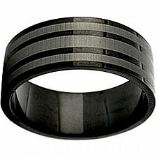 Buy coi Jewelry Black Titanium Wedding Band Ring