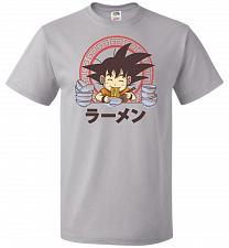 Buy Saiyan Ramen Unisex T-Shirt Pop Culture Graphic Tee (L/Silver) Humor Funny Nerdy Geek