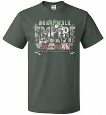 Buy Boardwalk Empire Unisex T-Shirt Pop Culture Graphic Tee (XL/Forest Green) Humor Funny