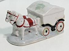 Buy Vintage Porcelain Horse Team Carriage Buggy Figural Ashtray Snuffer Japan