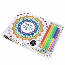 Buy :10809U - Peace 94 Page Adult Coloring Book w/8 Colored Pencils