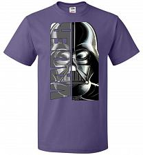 Buy Vader Youth Unisex T-Shirt Pop Culture Graphic Tee (Youth S/Purple) Humor Funny Nerdy