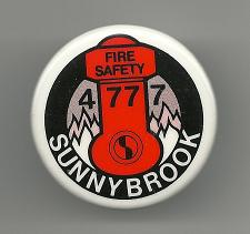 Buy Fire Safety Sunnybrook 4777 Collectible Pinback Button Pin Vintage