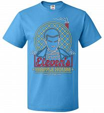 Buy Eleven's Waffle House Adult Unisex T-Shirt Pop Culture Graphic Tee (4XL/Pacific Blue)