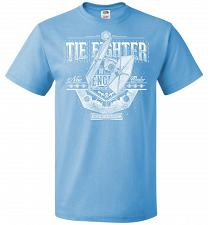 Buy New Order Tie Fighter Unisex T-Shirt Pop Culture Graphic Tee (M/Aquatic Blue) Humor F