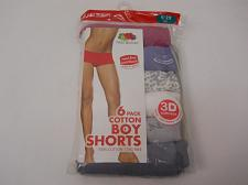 Buy Women Cotton Boyshorts Panties 6 Pack PLUS SIZE 9/2X ASSORTED FRUIT OF THE LOOM