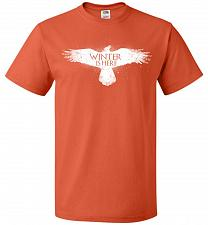 Buy Winter Is Here Unisex T-Shirt Pop Culture Graphic Tee (L/Burnt Orange) Humor Funny Ne