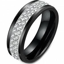 Buy coi Jewelry Black Tungsten Carbide Ring - TG361A(Size:US5/8/13.5/15)