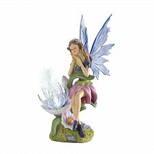 "Buy *18276U - Garden Fairy Light Up Flower Statue 12"" Solar Lamp"