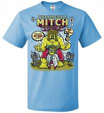 Buy Incredible Mitch Unisex T-Shirt Pop Culture Graphic Tee (XL/Aquatic Blue) Humor Funny