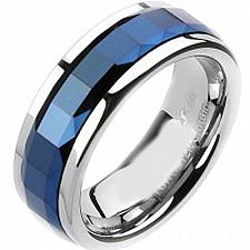 Buy coi Jewelry Tungsten Carbide Ring with Blue Ceramic - TG2403(Size:US11)