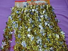 Buy 2 Packs of Yule Rite Holographic Die Cut Holiday Garland Crafts 24 Feet Total