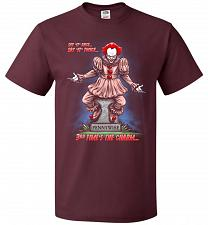 Buy Pennywise The Dancing Clown Adult Unisex T-Shirt Pop Culture Graphic Tee (2XL/Maroon)