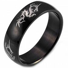 Buy coi Jewelry Black Tungsten Carbide Dragon Wedding Band Ring