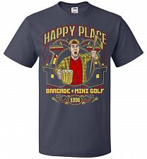 Buy Gilmore's Happy Place Adult Unisex T-Shirt Pop Culture Graphic Tee (XL/J Navy) Humor