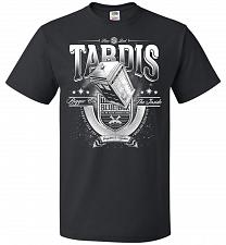 Buy Anywhere and Everywhere Tardis Unisex T-Shirt Pop Culture Graphic Tee (XL/Black) Humo