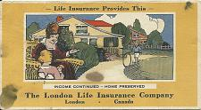 Buy Vintage Ink Blotter London Life Insurance Company Family Home Kids ON Canada
