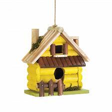 Buy *18415U - Yellow Log Home Wood Birdhouse
