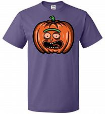 Buy Halloween Pumpkin Rick Adult Unisex T-Shirt Pop Culture Graphic Tee (M/Purple) Humor