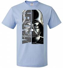 Buy Vader Youth Unisex T-Shirt Pop Culture Graphic Tee (Youth M/Light Blue) Humor Funny N