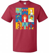 Buy Popiece Art Unisex T-Shirt Pop Culture Graphic Tee (5XL/True Red) Humor Funny Nerdy G