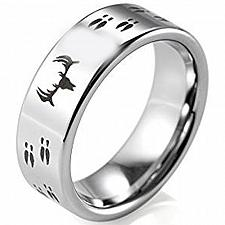 Buy coi Jewelry Tungsten Carbide Deer Track Wedding Band Ring