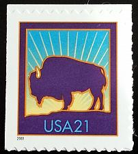 Buy 2001 21c Bison, Booklet Single, SA Scott 3484 Mint F/VF NH