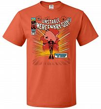 Buy Unstable Mercenary Guy Unisex T-Shirt Pop Culture Graphic Tee (2XL/Burnt Orange) Humo