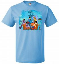 Buy Super Friends Unisex T-Shirt Pop Culture Graphic Tee (4XL/Aquatic Blue) Humor Funny N