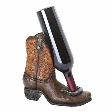 Buy *16833U - Horseshoe Cowboy Boot Tabletop Single Wine Bottle Holder